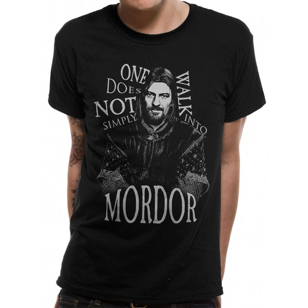 Lord Of The Rings - Walk Into Mordor Men's X-Large T-Shirt - Black