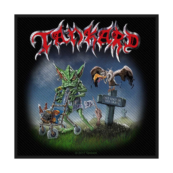 Tankard - One Foot in the Grave Standard Patch