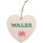 Wales Welsh Hanging Heart Sign