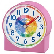 Seiko QHE153P Childrens Time Teaching Alarm Clock Pink