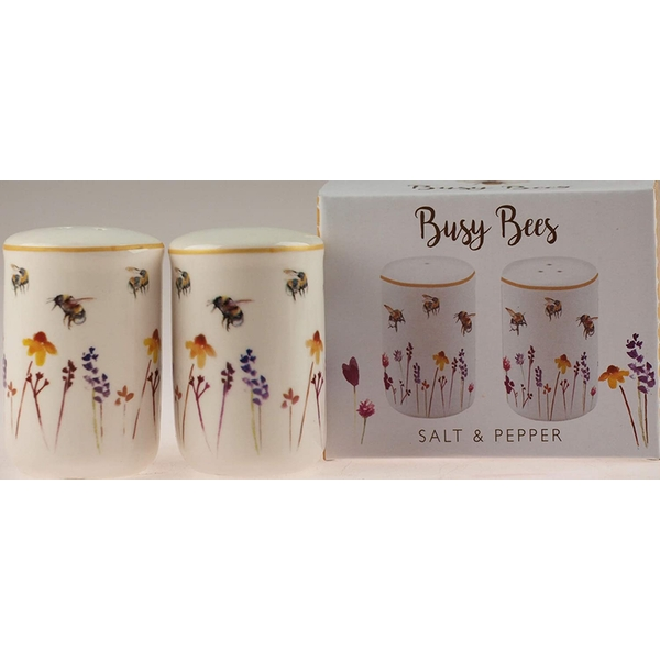 Busy Bees Design Fine China Salt & Pepper Pots By Lesser & Pavey