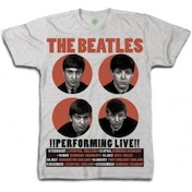 The Beatles Performing Live Mens Grey Boxed TS: XXL