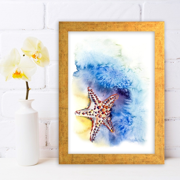 AC640323790 Multicolor Decorative Framed MDF Painting