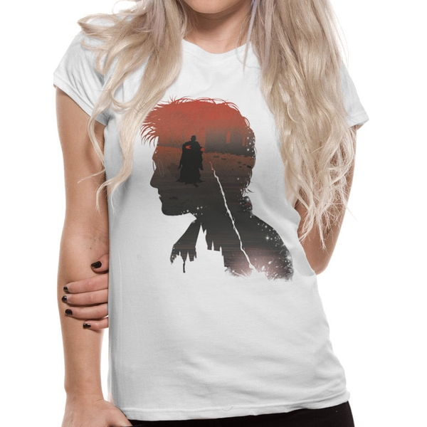 Harry Potter - Battle Silhouette Women's Small T-Shirt - White