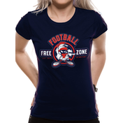Looney Tunes - Anti-football Women's Small Fitted T-Shirt - Blue