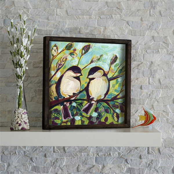 KZM616 Multicolor Decorative Framed MDF Painting