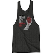 Green Day American Idiot Vintage with Tassels Ladies Large T-Shirt Dress