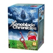 Xenoblade Chronicles Solus Game and Red Classic Controller Wii