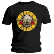 Guns N Roses Classic Logo Mens Black T Shirt Small