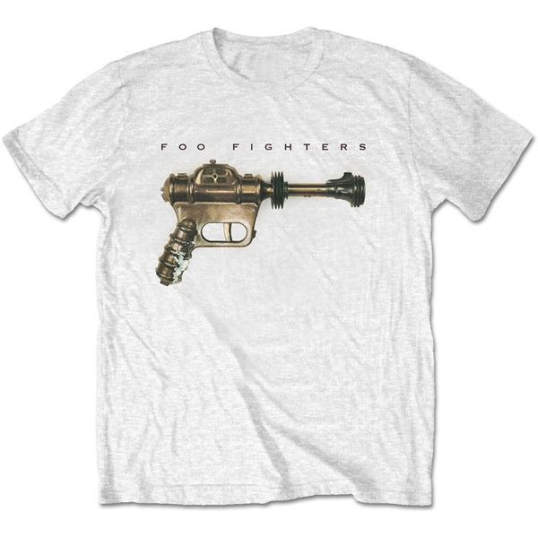 Foo Fighters - Ray Gun Unisex XX-Large T-Shirt - White
