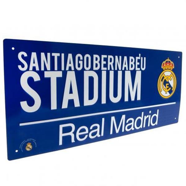 Real Madrid FC Blue Street Sign