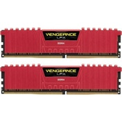 Corsair CMK8GX4M2A2400C16R Vengeance LPX 8 GB (2 x 4 GB) DDR4 2400 Mhz C16 XMP 2.0 High Performance Desktop Memory Red