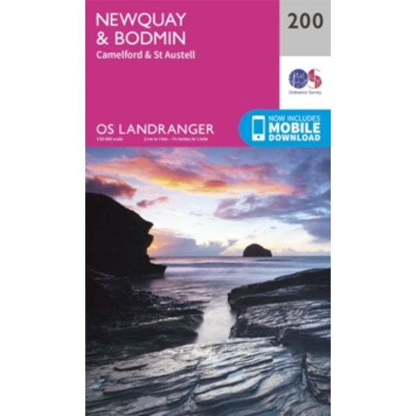 Newquay, Bodmin, Camelford & St Austell by Ordnance Survey (Sheet map, folded, 2016)