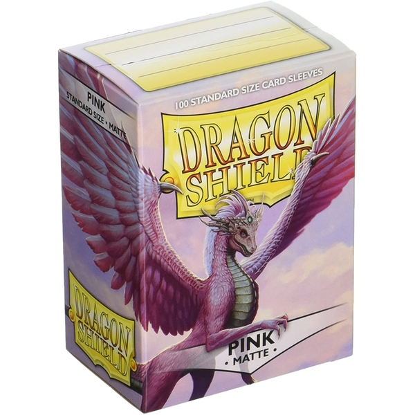 Dragon Shield Pink Matte Card Sleeves - 100 Sleeves
