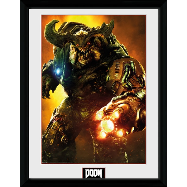 Doom Cyber Demon Framed Collector Print
