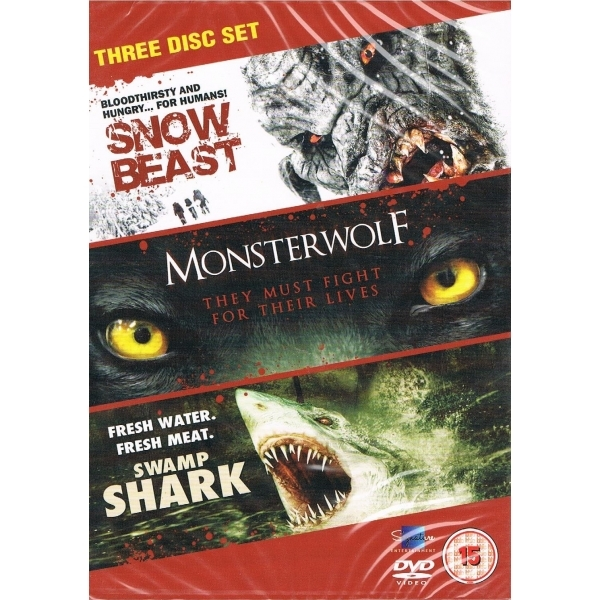 Snow Beast / Monsterwolf / Swamp Shark DVD