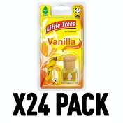 Vanilla (Pack Of 24) Little Trees Bottle Air Freshener
