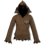 Altar Drake - Zig Zag Hem Women's Medium Full Zip Hoodie - Brown