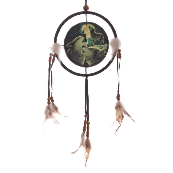 Small Fantasy Wolf Family Dreamcatcher