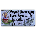 An Old Fisherman Lives Here Smiley Magnet Pack Of 12