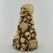 Skull & Skeleton Candle Holder Bone Stack 20cm - Image 2