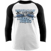 Superman - Earths Hero Unisex X-Large Baseball Shirt - White