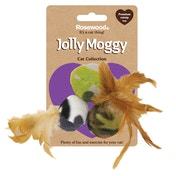Rosewood Jolly Moggy Feather Fleece Balls