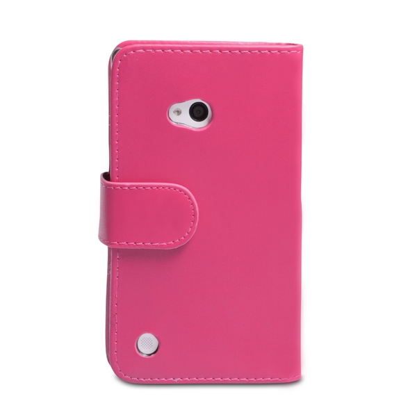 YouSave Accessories Nokia Lumia 720 Leather-Effect Wallet Case - Hot Pink - Image 2