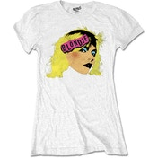 Blondie - Punk Logo Women's Medium T-Shirt - White