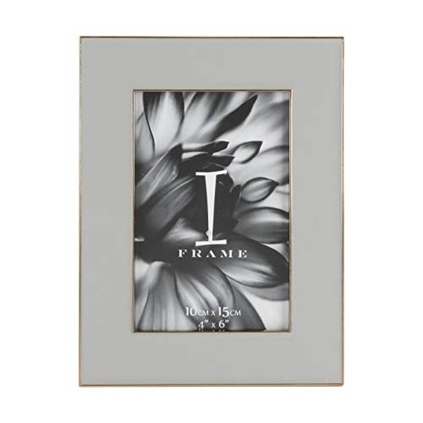 "4"" x 6"" - iFrame Die Cast Soft Grey Photo Frame"