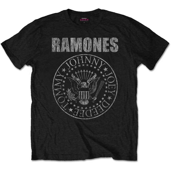 Ramones - Presidential Seal Unisex X-Large T-Shirt - Black