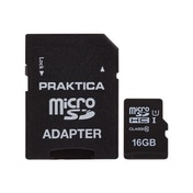 PRAKTICA 16GB Class 10 MicroSD Memory Card inc SD Adapter