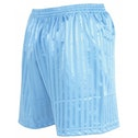 Precision Striped Continental Football Shorts 30-32 inch Sky Blue