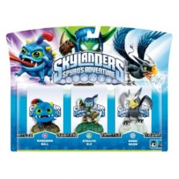 Wrecking Ball, Stealth Elf, and Sonic Boom (Skylanders Spyro's Adventure) Triple Character Pack D