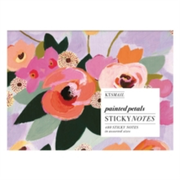 Painted Petals Sticky Notes