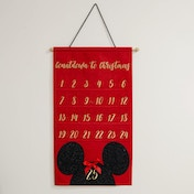 Disney Gold Embroidered Minnie Mouse Fabric Advent Calendar