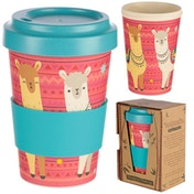 Llama Design Bambootique Eco Friendly Travel Cup/Mug