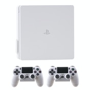 4mount Wall Mount Bracket White for Playstation 4 Slim Console BUNDLE