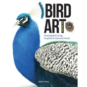 Bird Art : Drawing Birds Using Graphite & Coloured Pencils