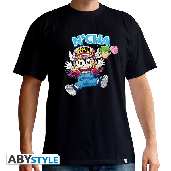 Dr Slump - Arale & Gacchan Men's Large T-Shirt - Black