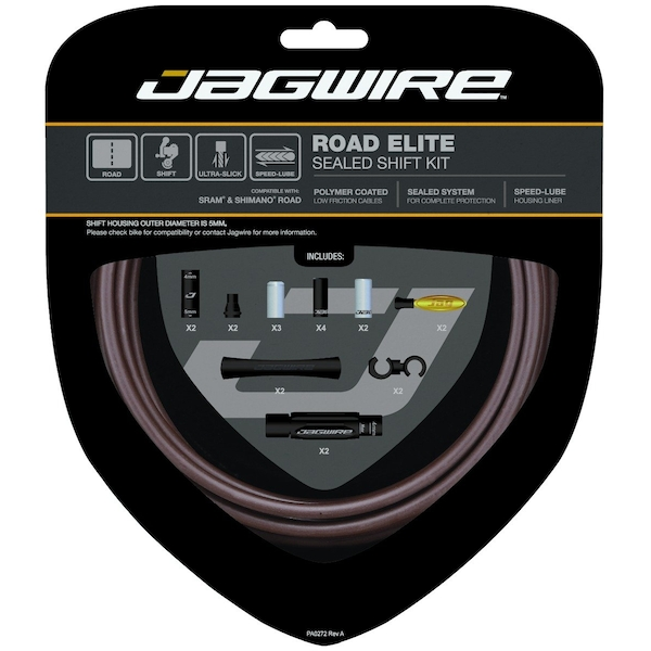 Jagwire Road Elite Sealed Shift Cable Kit Frozen Coffee