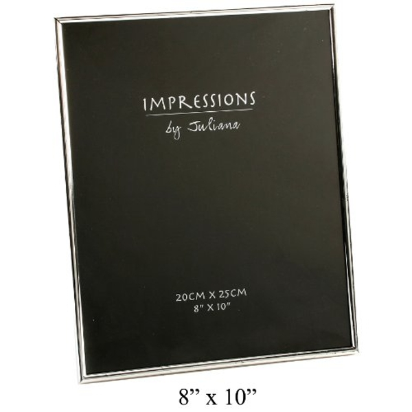 "8"" x 10"" - Impressions Thin Silver Plated Photo Frame"