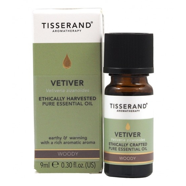 Tisserand Aromatherapy Vetiver Ethically Harvested Essential Oil 9ml