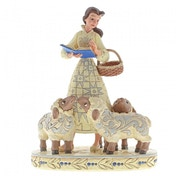 Bookish Beauty Belle with Sheep Figurine