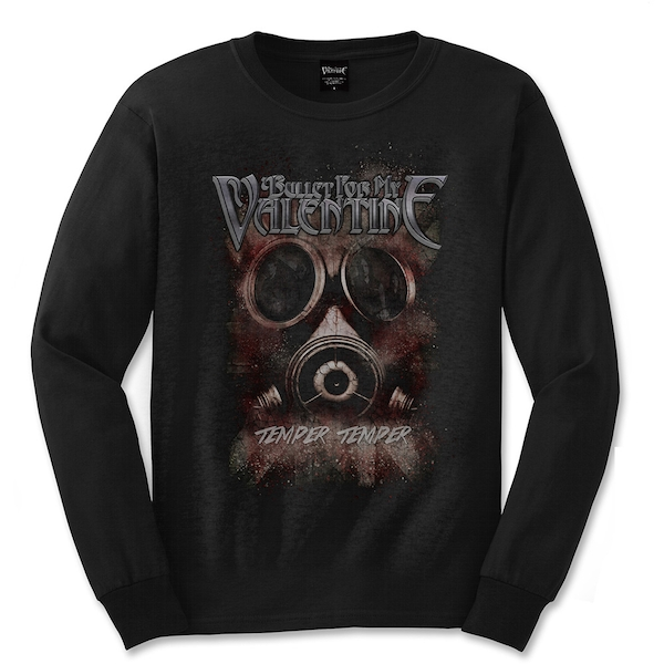 Bullet For My Valentine - Temper Temper Gas Mask Unisex X-Large T-Shirt - Black