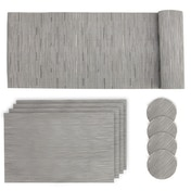 Grey Table Mat Set | Pukkr