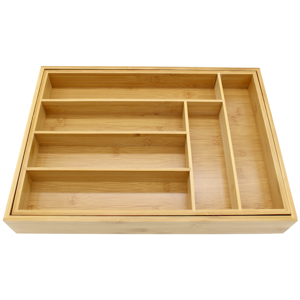 Bamboo Extending Cutlery Drawer Tray | M&W - Image 8