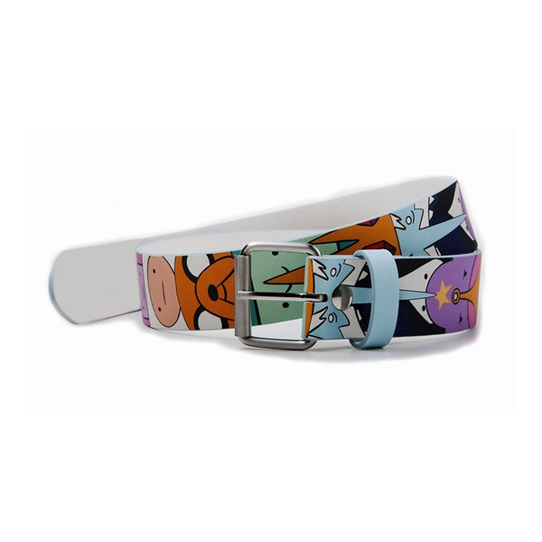 Adventure Time - Characters All-Over Print Unisex X-Large Belt - Multi-Colour