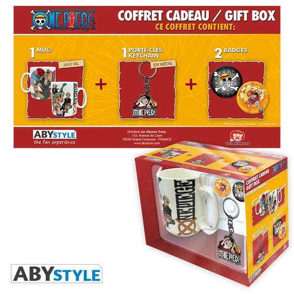 One Piece - Mug + Keychain + Badges New World Gift Box