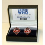 Doctor Who Pewter Classic Logo Cufflinks